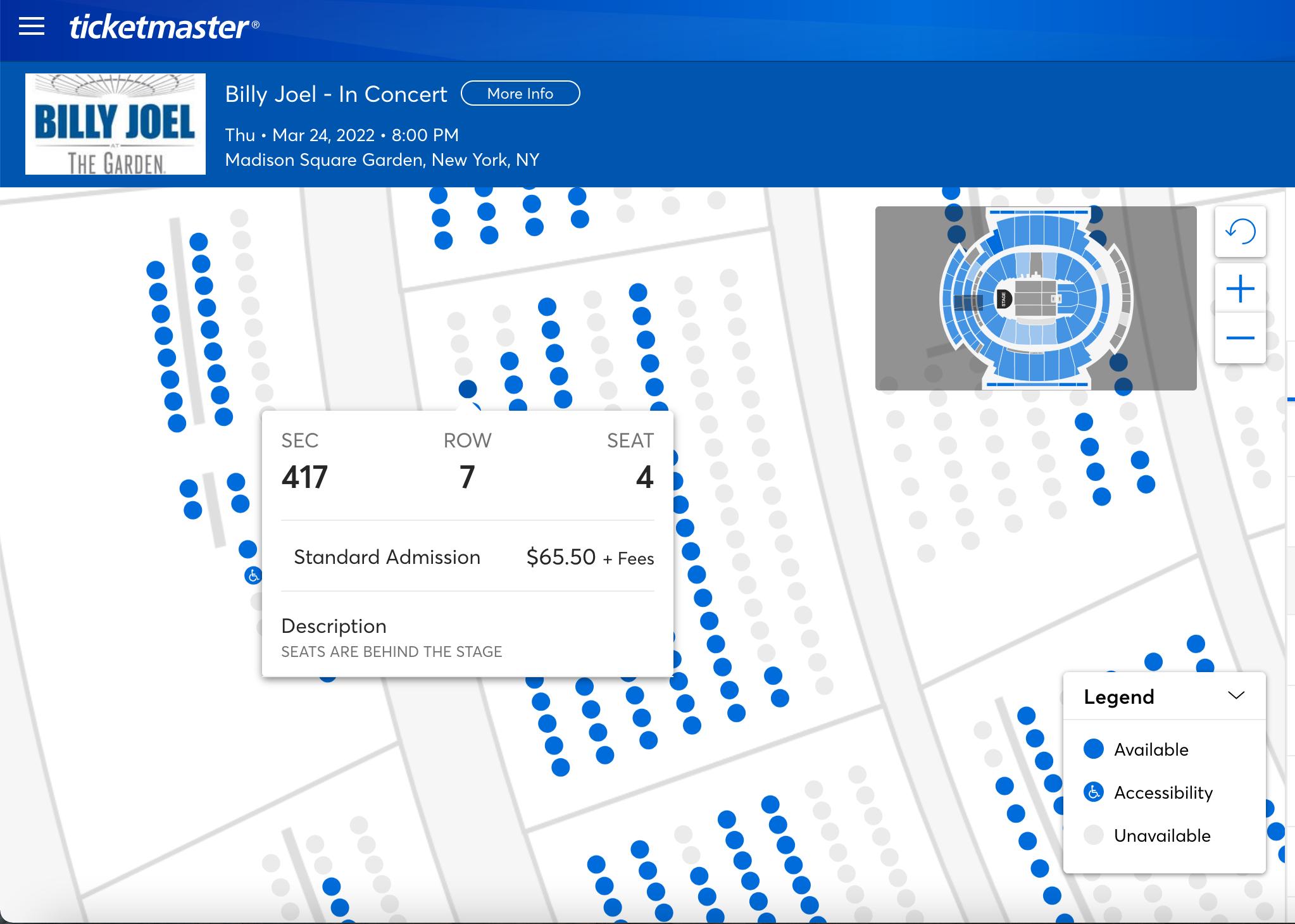 Billy Joel Ticket Prices - Ticketmaster