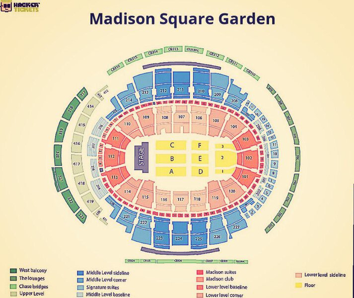 Billy Joel seating chart at the Madison Square Garden
