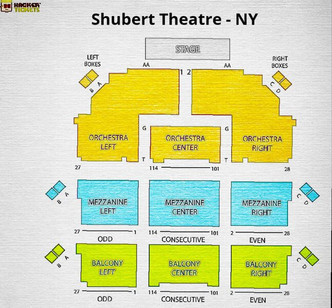 Seating Chart for To Kill a Mockingbird on Broadway (Shubert Theatre - New York)